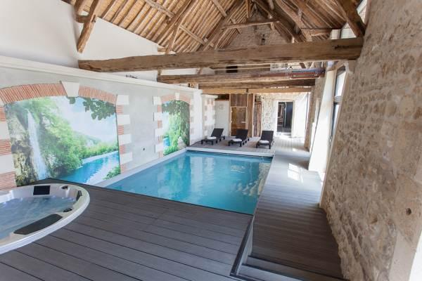 Chambre d 39 h te en picardie r servation noyant et for Gite piscine interieure