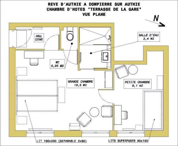 Chambres d'hôtes Gîte de France N°G1805 (Rêve d'Authie)