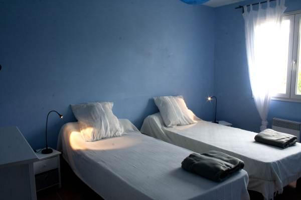 Chambre Bleue 2 lits identiques