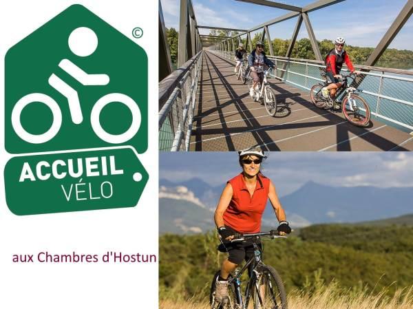 Accueil vélo aux Chambres d'Hostun - Voie verte Vallée de l'Isère