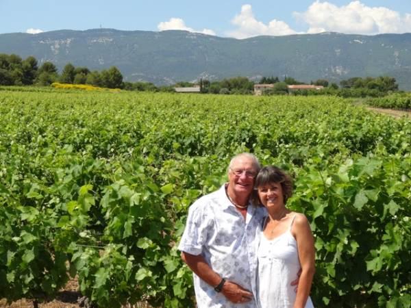 Chez nous en arrivant au gîte,vignes et Luberon en juin