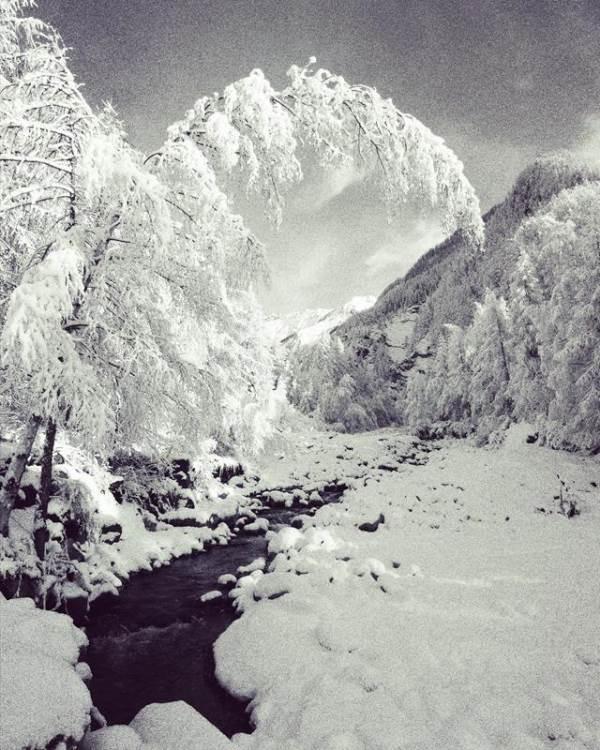 le torrent de Méolion en hiver