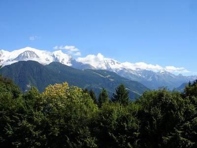 vue du Mont Blanc en été