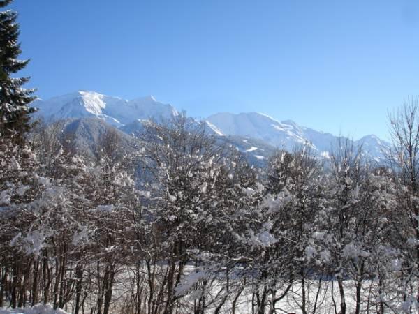 Le Mont Blanc vu en hiver