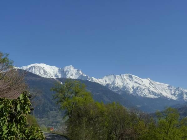 le Mont-Blanc vu de la terrasse