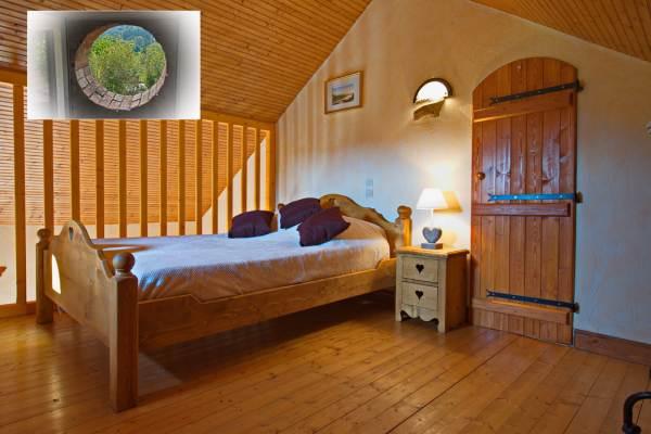 Chambre en mezzanbine avec vue sur le parc