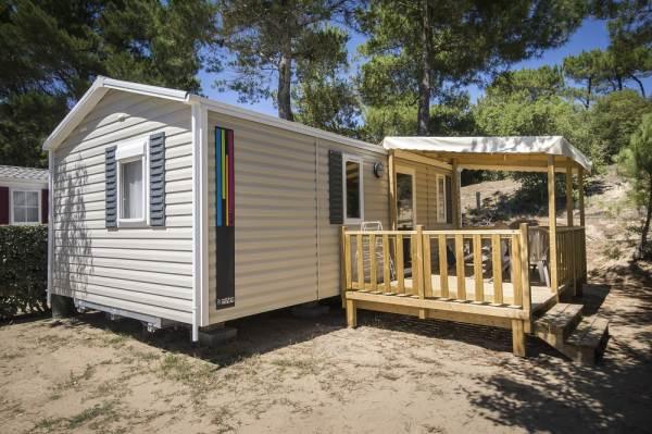 Mobil-home avec terrasse sur le camping L'Orée du Bois à Saint Jean de Monts