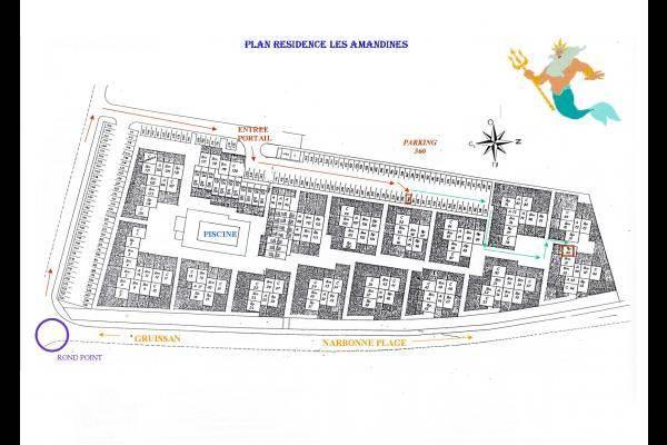 Plan de la résidence carré rouge pour pavillon