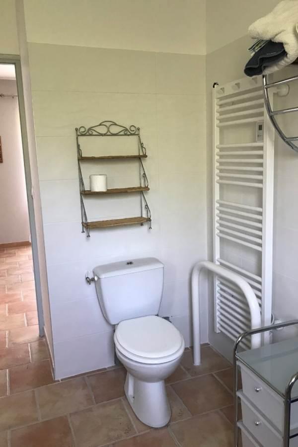 toilettes, radiateur mural pour l'hiver