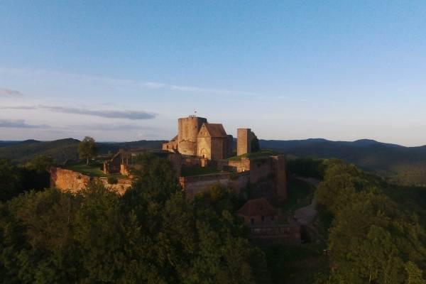 le château vu par un drone