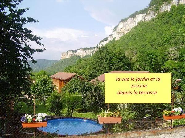 depuis la terrasse - Gite dans un ancien pressoir avec piscine cadre superbe (Isère)
