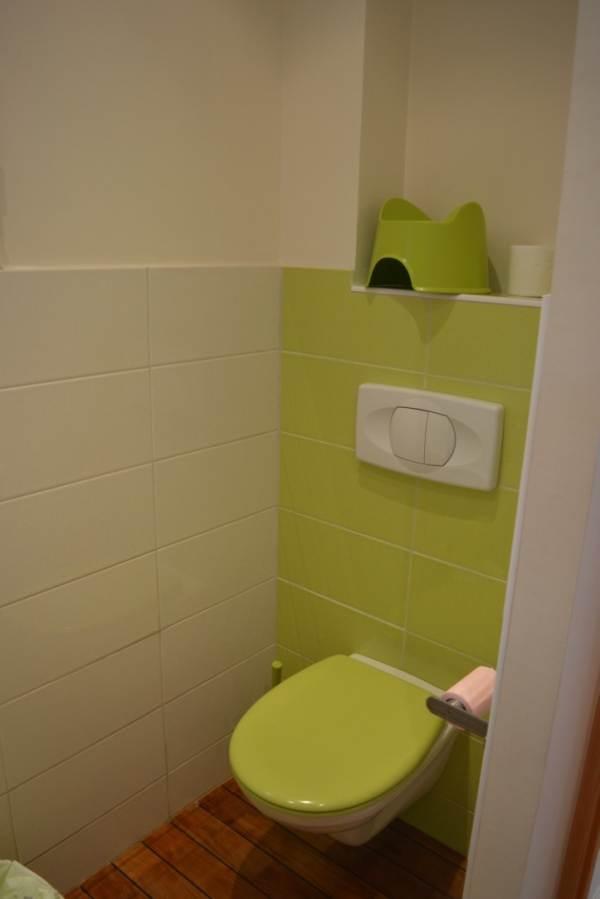 WC salle de bain à l'étage