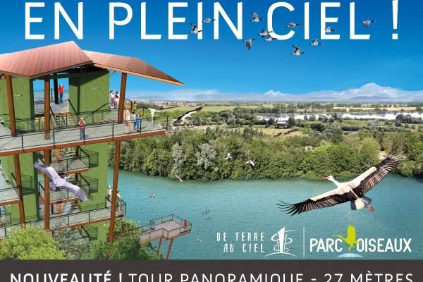 Parc des Oiseaux avec sa Tour Panoramique, nouveauté 2016 !