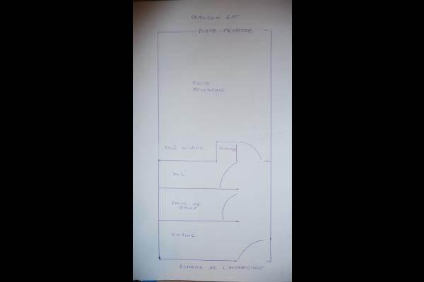 plan schématique de l'appartement