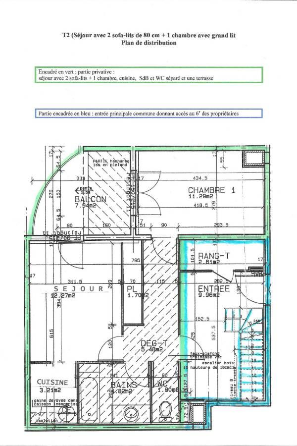 Plan T2 41 m2 + terrasse