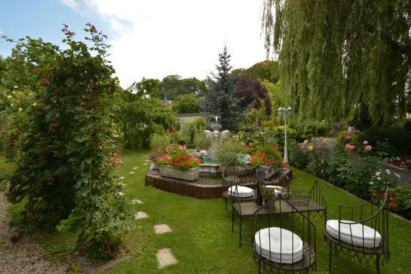 Espace détente dans le jardin