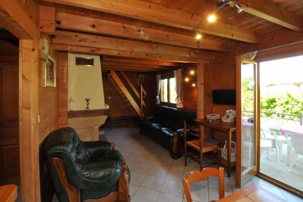Salon avec cheminée insert