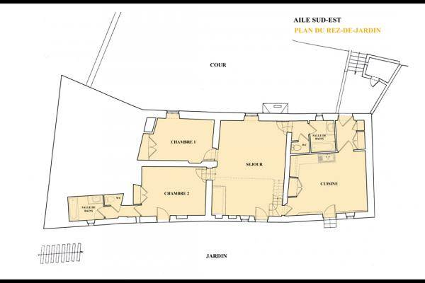 Plan du rez-de-jardin