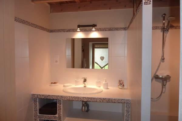 Salle de bain :douche à l'italienne