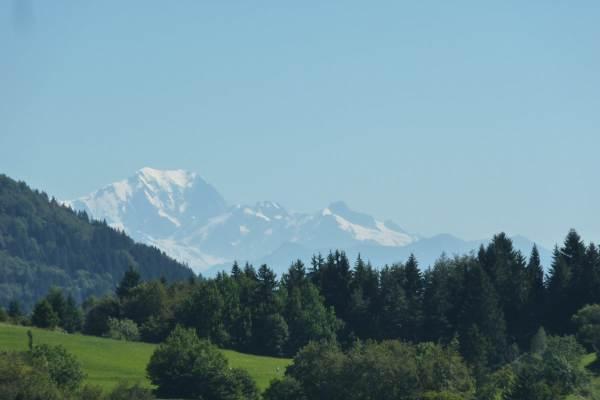 Mont Blanc vu des Entremonts