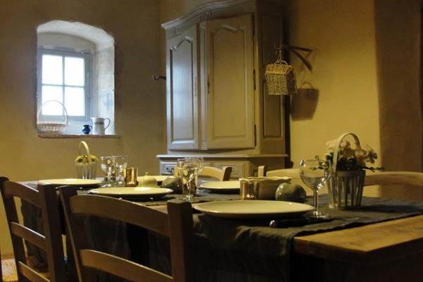 la table dans la cuisine