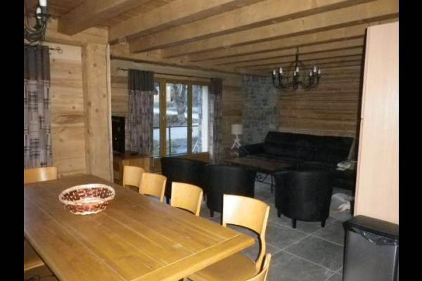 Chalet 12 personnes très belle vue Valloire : coin séjour et salon