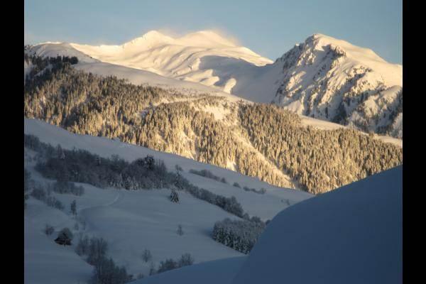 le mont Blanc vu du balcon