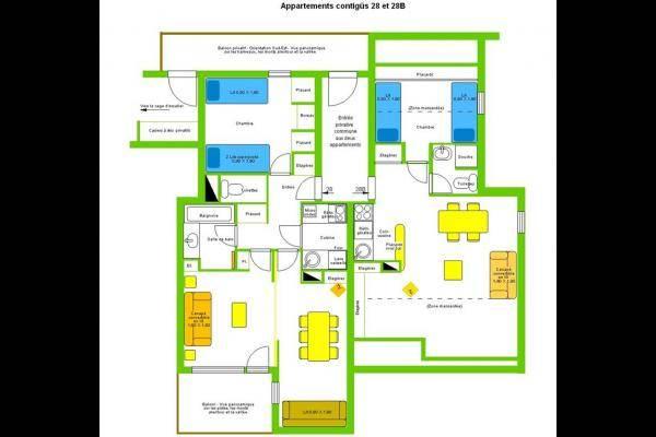 Plan des deux appartements