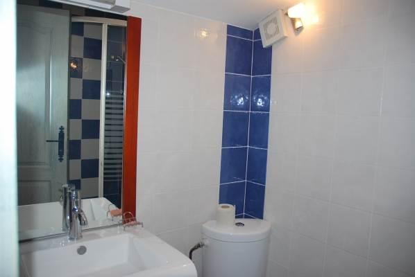 la salle d'eau avec wc