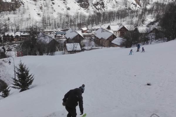 Départ en skis de la terrasse !