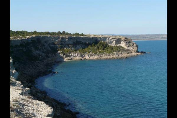 La falaise à Leucate - Méditerranée