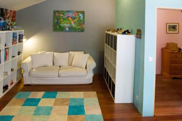 salon chambre bleue