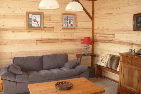 Gite avec vue imprenable proximité stations de ski de l'Oisans (Isère)- salon