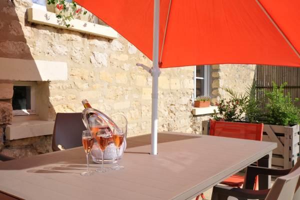 Terrasse accès depuis salon et cuisine