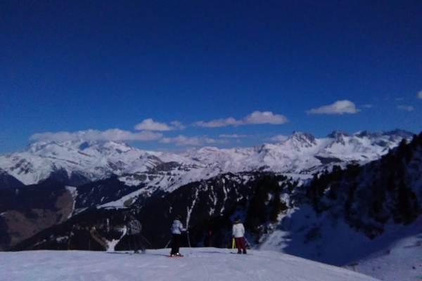 Le Mont Blanc vu de la station d'Arèches