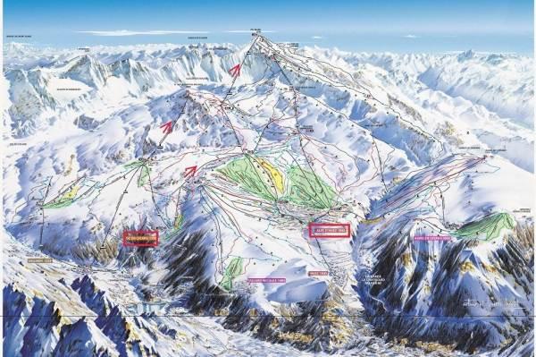 Plan des Pistes Oz / Alpe d'Huez