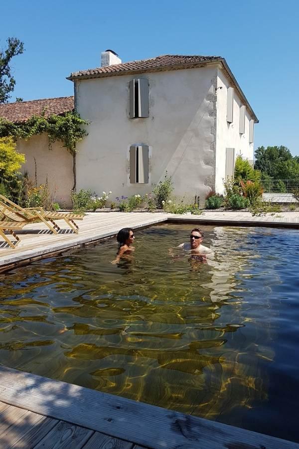 Lassenat éco-maison d'Hôtes en Gascogne, et sa piscine écologique