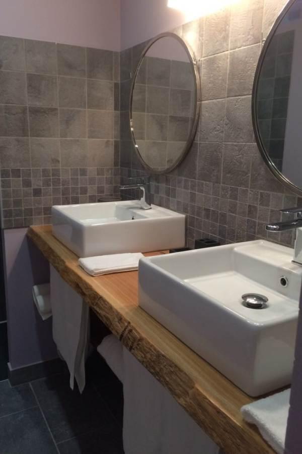 Chambre Côté prairie, la salle de bain