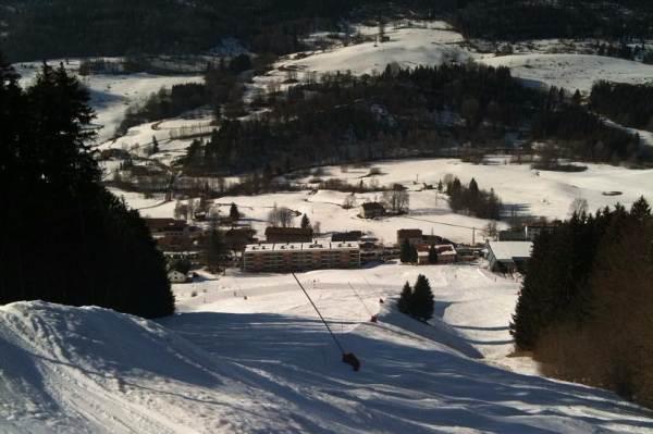 Crêt de la neige vu du haut des pistes de ski