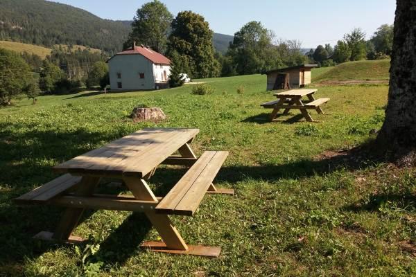Les tables extérieures de jardin