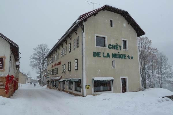 Le Crêt de la Neige en hiver