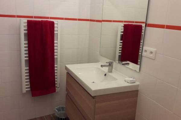 Une des salles de douche