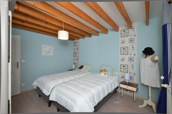 Lits double chambre étage Gîte du Lavoir