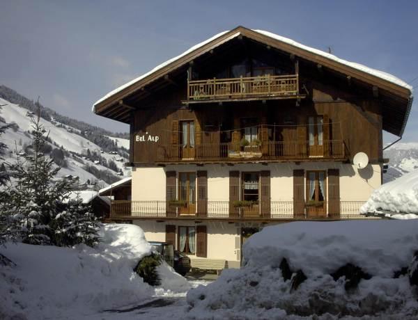 le chalet Bel Alp en hiver