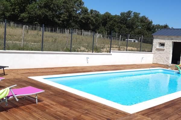 la piscine 10mx4m fond plat;profondeur 1.35m